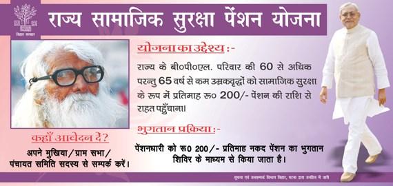 Samajik Suraksha Pension Yojana in Bihar