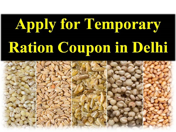 Temporary Ration Coupon Application in Delhi